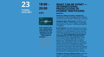 Internationale Strafverfolgung von Menschenhandel — Was kann verbessert werden? — International Prosecution Of Human Trafficking — What can bedone?