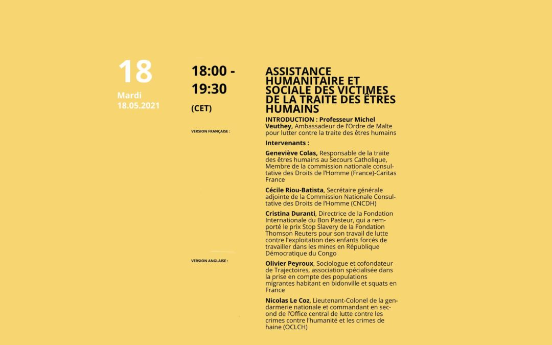 Humanitarian and social assistance to victims of human trafficking (France)
